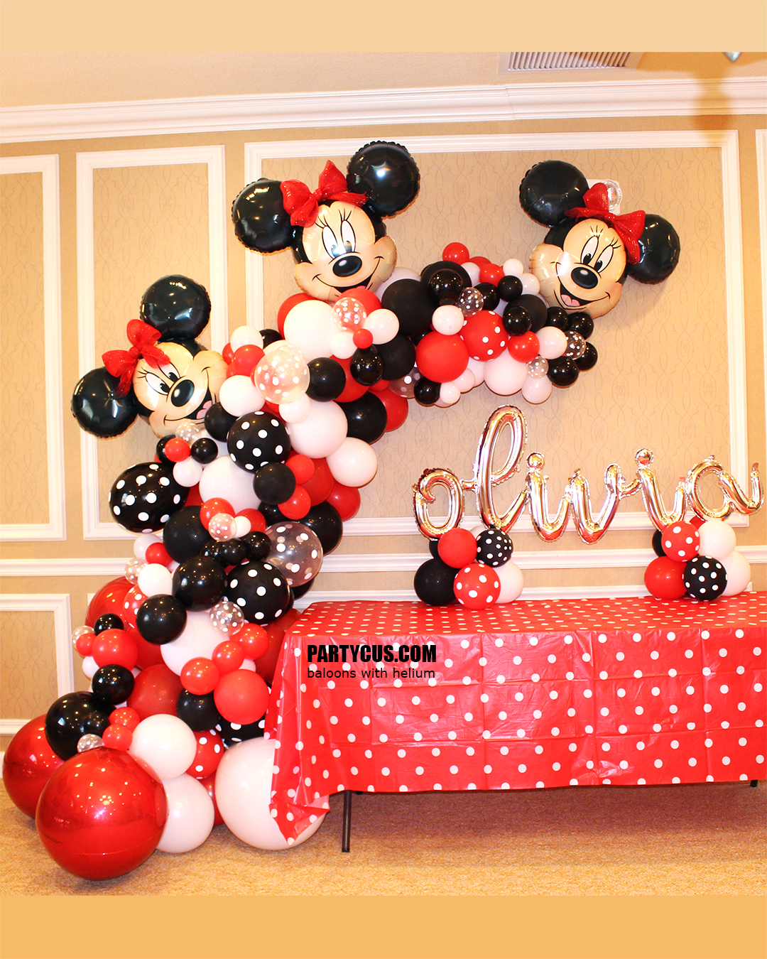 Balloons Garland Minnie Mouse 017 Pc